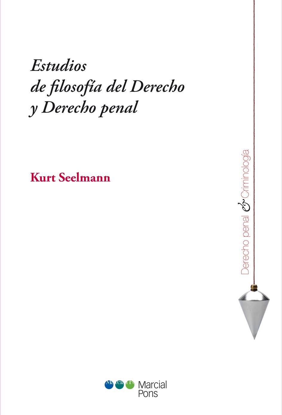 Portada del libro Estudios de filosofía del Derecho y Derecho penal
