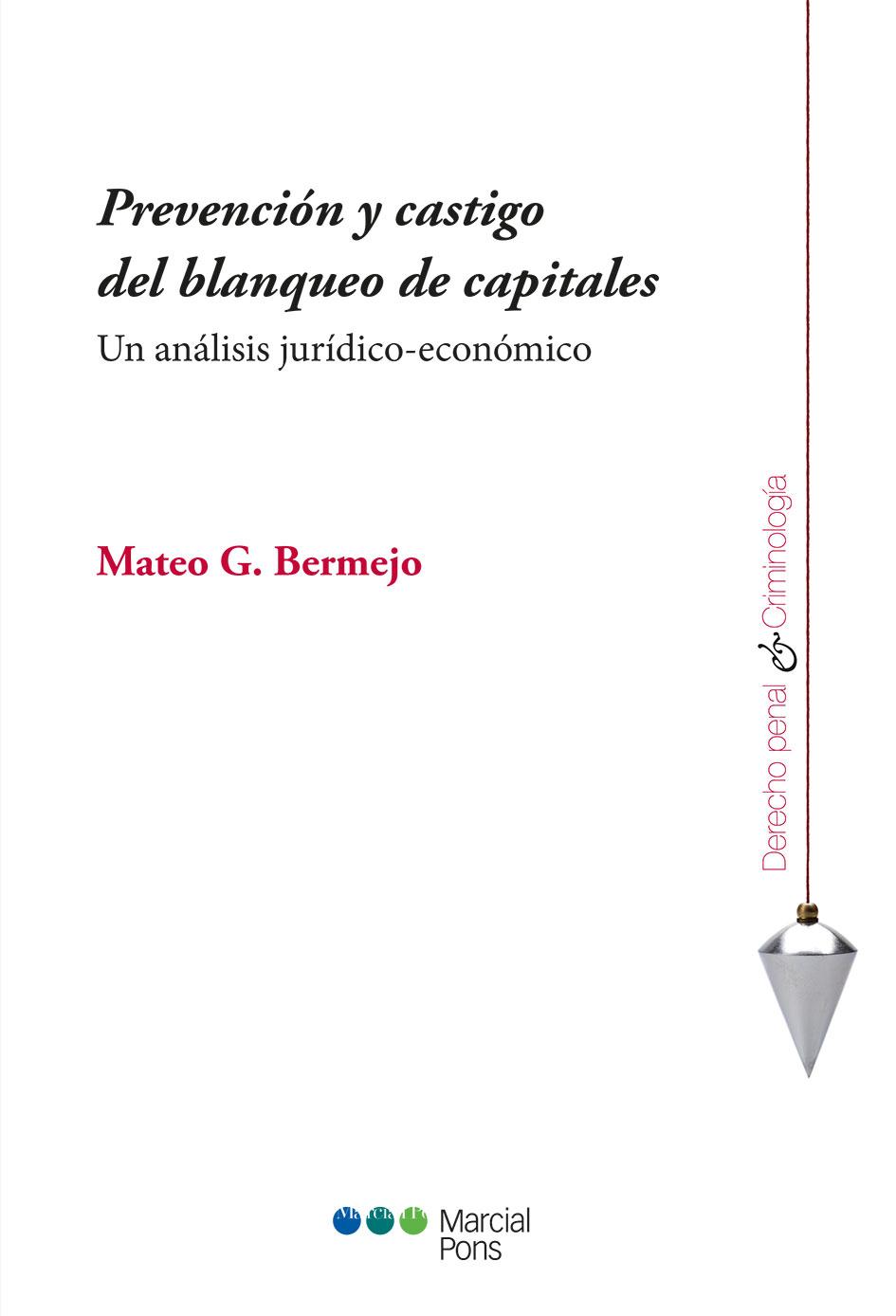 Portada del libro Prevención y castigo del blanqueo de capitales