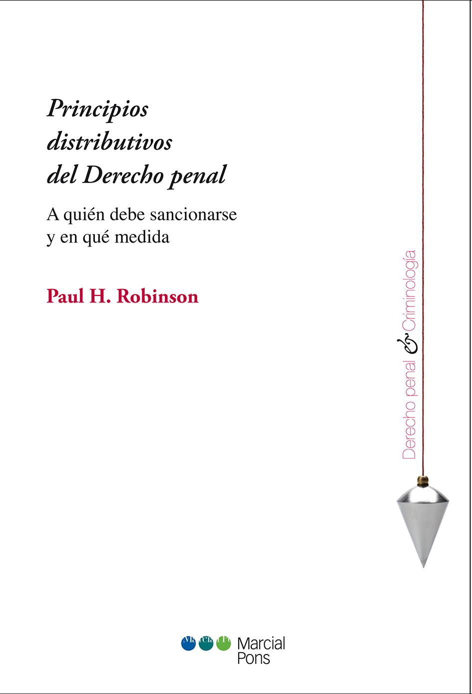 Portada del libro Principios distributivos del Derecho penal