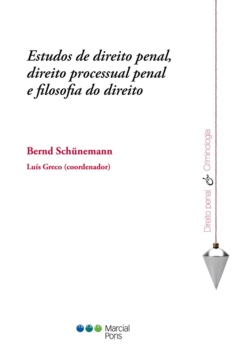 Portada del libro Estudos de direito penal, direito processual penal e filosofia do direito