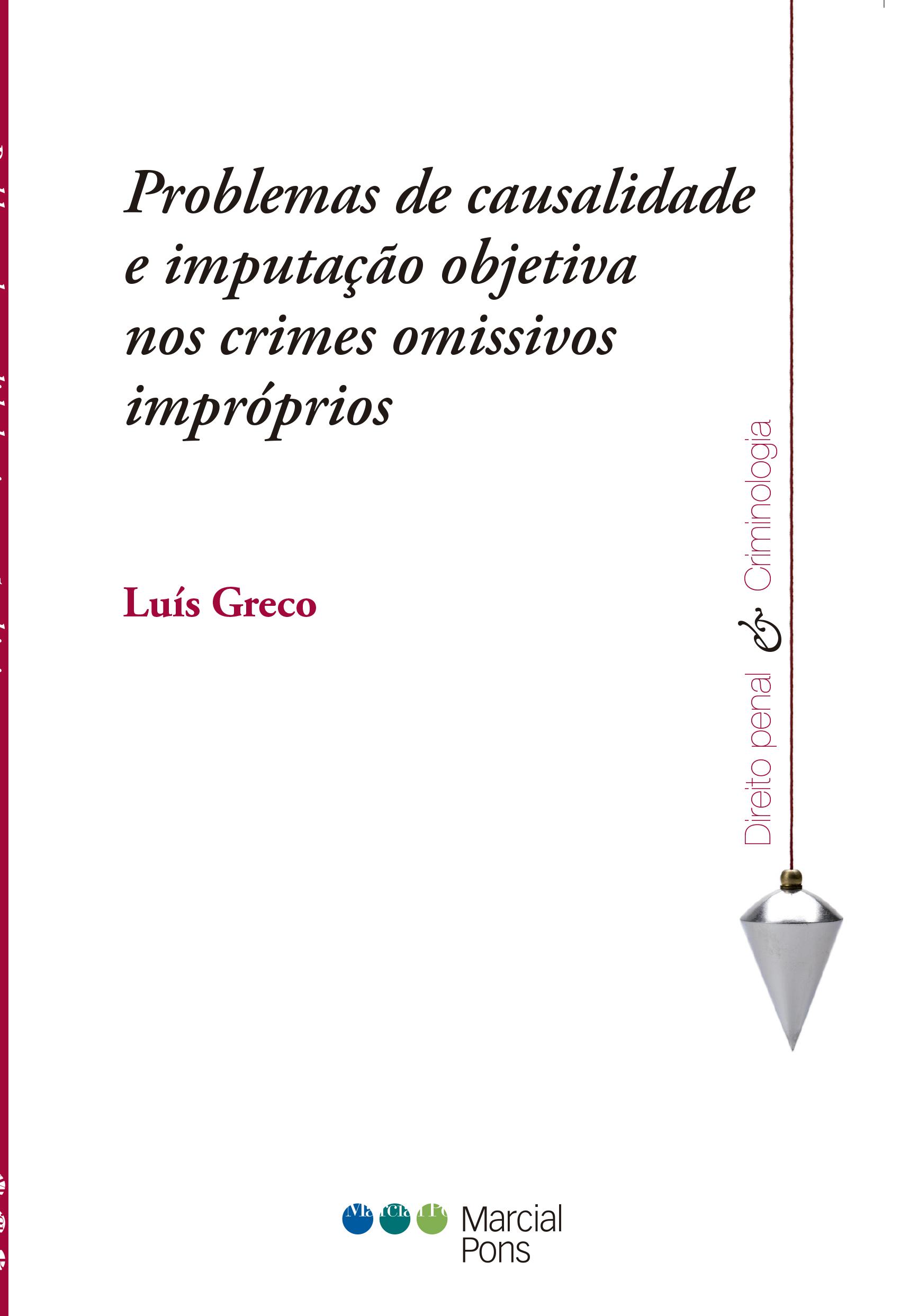 Portada del libro Problemas de causalidade e imputação objetiva nos crimes omissivos impróprios