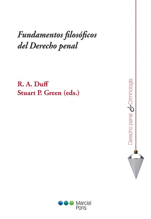 Portada del libro Fundamentos filosóficos del Derecho penal